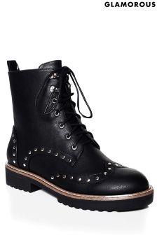 Glamorous Studded Hiker Boots