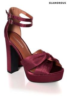 Glamorous Satin Platform Sandals