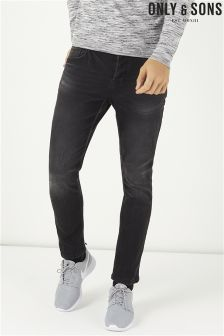 Only & Sons Warp Dark Wash Skinny Fit Jeans