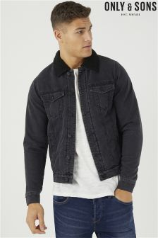 Only & Sons Denim Sherpa Jacket