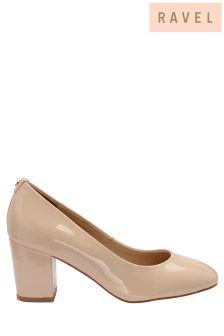 Ravel Block Heel Court Shoes