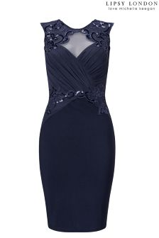 Lipsy Love Michelle Keegan Petite Ruched Sequin Bodycon Dress