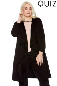 Quiz Curve Long Sleeve Two Button Back Waterfall Jacket