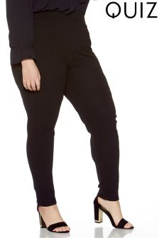 Quiz Curve Crepe Elasticated Waist Tapered Trouser With Pockets