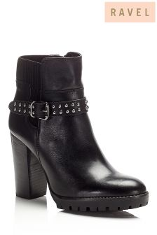 Ravel Buckle Detail Ankle Boots