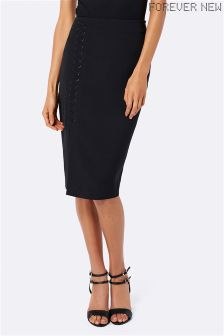 Forever New Lace Up Pencil Skirt