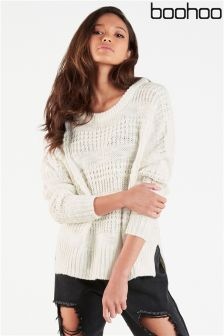 Boohoo Stitch Oversized Jumper