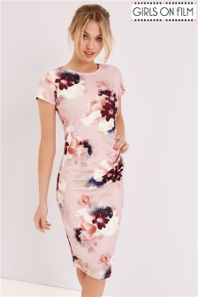 Girls On Film Floral Midi Dress