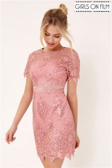 Girls On Film Embroidered Detailed Dress