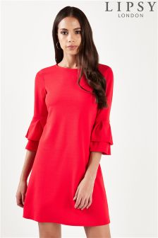 Lipsy Flute Sleeve Shift Dress