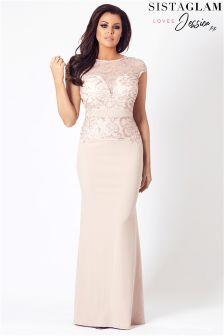 Jessica Wright Sequin Panel Maxi Dress