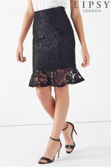 Lipsy All Over Lace Flute Hem Skirt