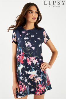 Lipsy Floral Printed T-Shirt Dress