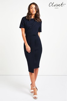 Closet Draped Jersey Dress