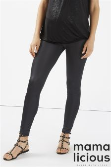 Mamalicious Maternity Leather Look Leggings