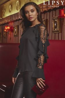 Lipsy Embroidered Beaded Sleeve Blouse