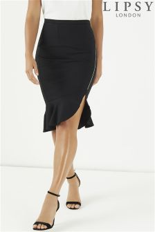Lipsy Frill Hem Pencil Skirt