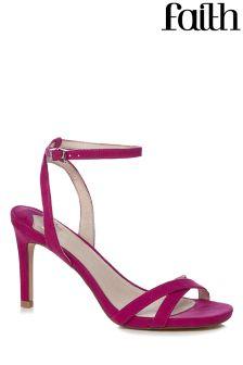 Faith Pink Heeled Sandals