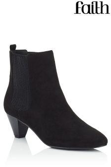 Faith Peg Heel Ankle Boots