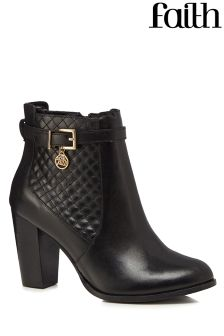 Faith Buckle Ankle Boots