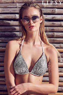 Lipsy Sequin Bikini Top