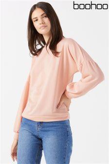 Boohoo Puff Sleeve Sweatshirt