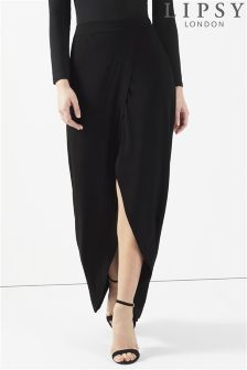 Lipsy Wrap Maxi Skirt