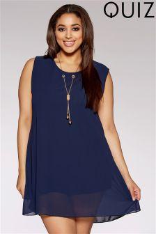Quiz Curve Chiffon Necklace Tunic Dress