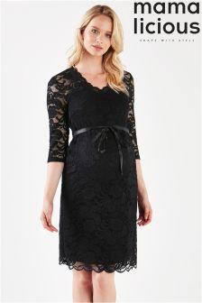 Mamalicious Maternity Wrap Lace Dress