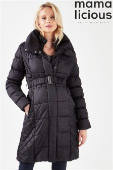 Mamalicious Maternity Long Sleeve Padded Coat
