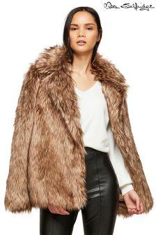 Miss Selfridge Faux Fur Coat