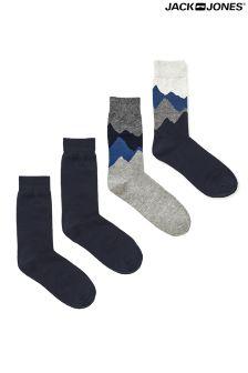 Jack & Jones Mountain Socks Pack Of 4