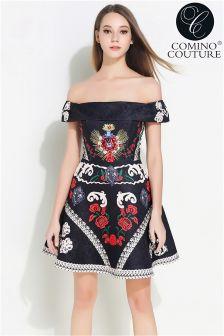 Comino Couture Vintage Bardot Dress