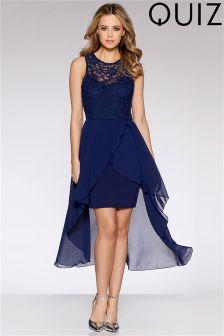 Quiz Lace Dip Hem Dress