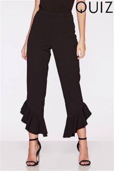 Quiz Asymmetric Hem Trousers