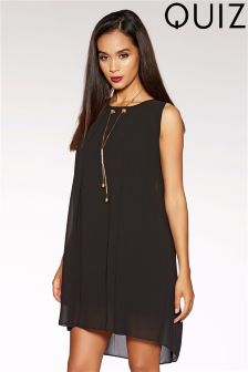 Quiz Chiffon Necklace Tunic Dress