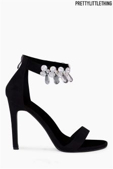PrettyLittleThing Jewel Detail Strappy Heels