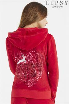 Lipsy Faux Fur Reindeer Christmas Hoody