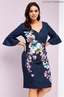 Little Mistress Curve Floral Print Dress