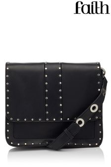 Faith Studded Cross Body Satchel