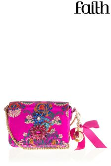 Faith Embellished Printed Cross Body Bag