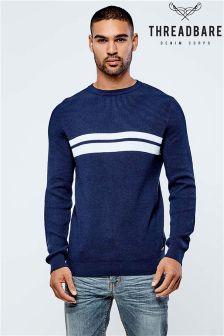 Sweter Threadbare z półokrągłym dekoltem w paski
