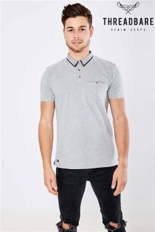 Threadbare Rosedale Polo Shirt With Patterned Collar