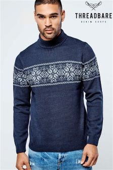 Threadbare Fairisle Turtle Neck Jumper