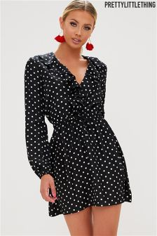 PrettyLittleThing Polka Dot Dress