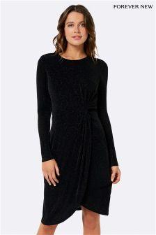 Forever New Sparkle Drape Dress