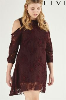 Elvi Cold Shoulder Lace Dress