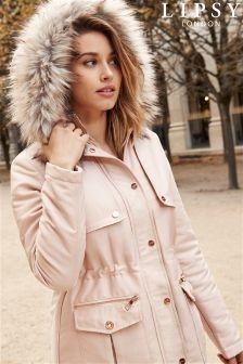 Lipsy Faux Fur Hood Parka