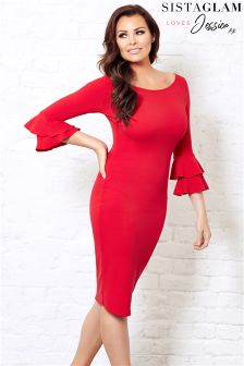 Jessica Wright Bodycon Ruffle Dress