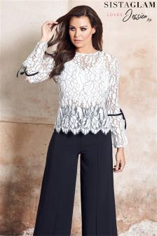 Jessica Wright Long Sleeve Lace Blouse